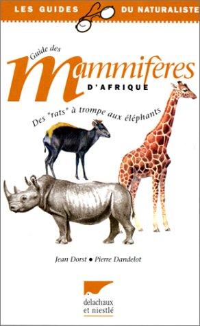 Guide des grands mammifères d'Afrique,