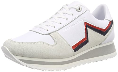 pretty nice f2006 bde9d Tommy Hilfiger Star Retro Runner, Sneakers Basses Femme, Blanc (White 100),