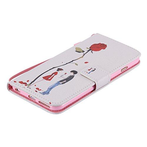 Coque pour iPhone 6 6S,Housse en cuir pour iPhone 6 6S,Ecoway Colorful imprimé étui en cuir PU Cuir Flip Magnétique Portefeuille Etui Housse de Protection Coque Étui Case Cover avec Stand Support Avec A-7