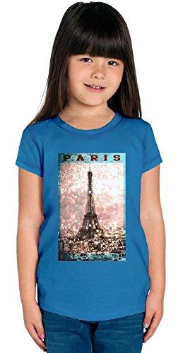 Eiffel Tower Paris France Girls T-shirt 12+ yrs -
