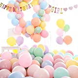 Gobesty Ballons De Latex Pastel, 10 Pouces Macaron Ballon De Couleur Pastel pour Anniversaire, Mariage, Saint Valentin, Fête, Décoration De Noël, 100Pcs