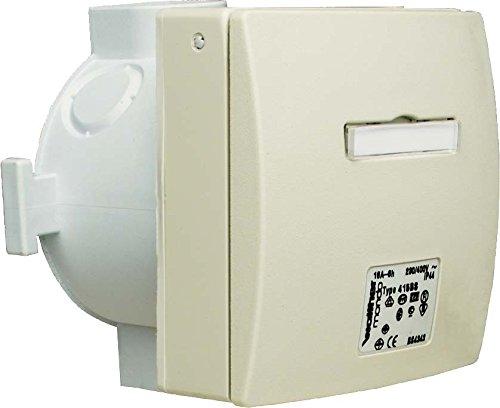 Walther Werke Mondo Wandsteckdose 16A 416306BSRW 3P 230V 6h IP44 UP Mondo CEE/SCHUKO-Architekturprogramm (IP44) 4015609521432