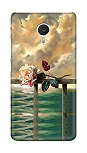 Amez designer printed 3d premium high quality back case cover for Meizu M3 Note (Flower Painting)