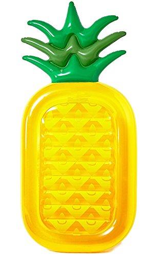 Vercrown Riesiges aufblasbares Ananas Schwimmtier,Pool Ananas Luftmatratze , Aufblasbar schwimmen Floß PVC Aufblasbarer Schwebebett Liegestühle Stuhl Luxus Ozean Lilo für Erwachsene und Kinder (L180*B90*H20cm) (Luftmatratze Luxus)
