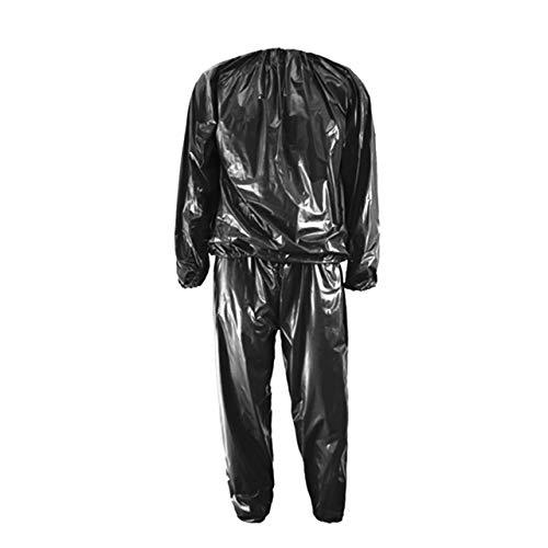 Prima05Sally Schwere Schweiß Sauna Anzug Anti-Rip Training Fitness Gewichtsverlust Abnehmen Kleidung Einfarbig Übung Sport Gym Anzug