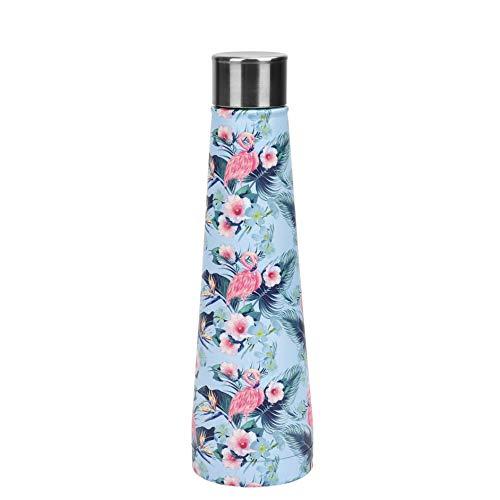FT SHOP Bottiglia Acqua Acciaio Inox Doppia Parete Isolamento Sottovuoto Bottiglia Termica Privo di BPA Leakproof Borracce per Scuola Allaperto