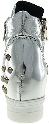 Maxstar C2 bandes Velcro Hauteur jusqu'à Chaussures-baskets Argent - C2-Silver