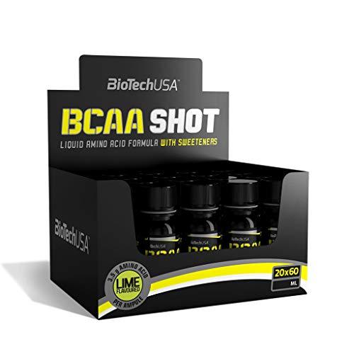 5 x Biotech USA BCAA Shot, 20x60ml Trinkflaschen (5er Pack)