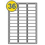 Comtechlogic® A4 blanc adhésif Vierge Livraison étiquettes d'adresse envoi étiquettes Amazon FBA code-barre Stickers compatible avec Jet d'encre & Laser Jet imprimantes – 36 étiquettes par feuille