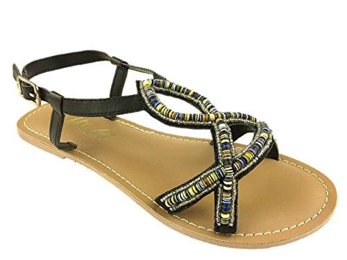Mc Footwear , Gladiator fille femme Noir