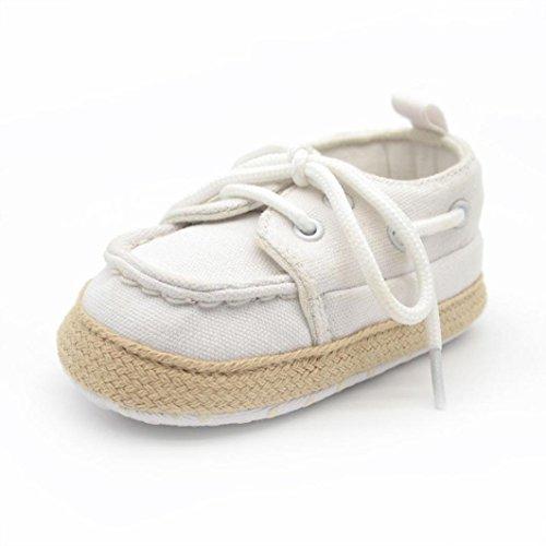 Yogogo - Chaussures Bébé - Chaussons Bébé - Chaussons Souple - Semelles souples Sneaker - Chaussures enfant - Chaussures Premiers Pas - Chaussures Bébé Fille Chaussures Bébé Garçon - 0-18 Mois Blanc
