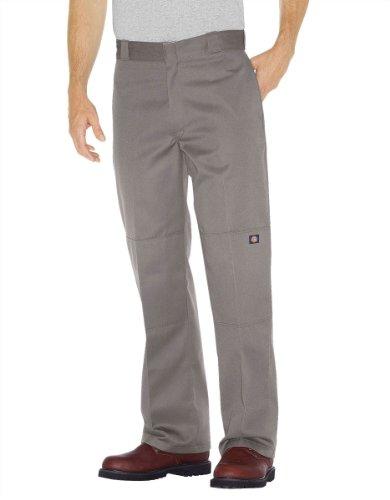 Dickies Herren Sporthose Streetwear Male Pants Double-Knee Work Silber