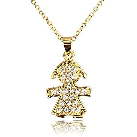 Missrui Crystal Angel Tinkerbell Kette Halskette Für Frauen Mädchen