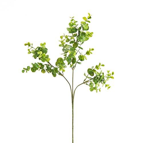 artplants Künstlicher Eukalyptuszweig, grün, 63 cm - Kunst Zweig/Deko Zweig