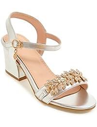 Sandalias Mujer/Sandalia con Pulsera para Mujer/La Chica en el Verano Sandalias de perforación de Agua, con un Gran número de Zapatos de Mujer