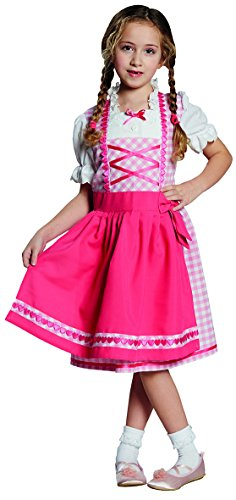 Kinder Kostüm Dirndl Rosa Oktoberfest Karneval Fasching Größe 164