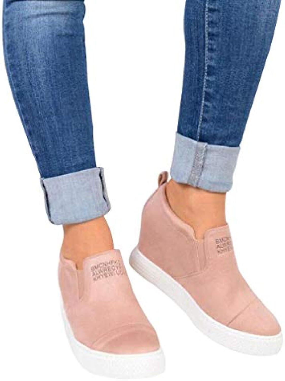 Yying Bottes Chaussures Martin pour Femmes Daim Chaussures Bottes Compensées Mode Loisirs Élégant Couleur Unie Bottillons Talons...B07JY5QSV3Parent 535ae5