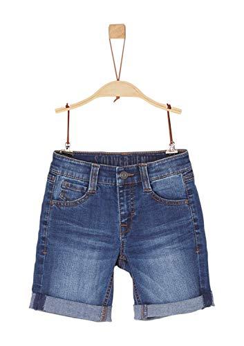 S.oliver 74.899.72.0524 pantaloncini, blu (blue denim stretch 56z7), (taglia del produttore: 134 cm/regolare) bambino