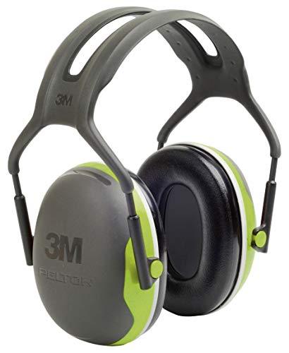 3M Peltor X4A Série X - Casque antibruit en serre-tête - Atténuation 33 dB - Idéal pour travaux de construction - 1 pièce - Couleur vert fluo