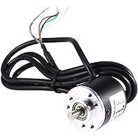Encoder de 600P/R 5V-24V, Codificador Rotatorio Incremental Fotoeléctrico de Eje de 2 Fases 6 mm, Usar para Medir Velocidad de Rotación, ángulo y Aceleración del Objeto