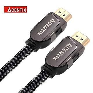 acentix High Speed HDMI 2.0Kabel, Nylon Geflochtenen Kabel HDR, V2.0/v1.4a 3D 2160p PS4Sky HD 4K @ 60Hz Ultra HD Ethernet Audio Return 3 Meter/9.84 ft