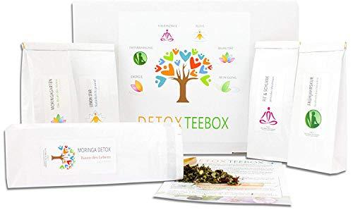 Reinigende Diät-detox (C&T Detox Tee Geschenkset | 5 x 50 g Tees zum Abnehmen & Entgiften + Infoblatt | Teebox perfekt für Diät, Fasten & Entschlacken | Entschlackungstee mit reinigender Wirkung)