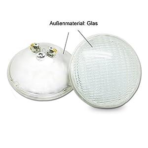 COOLWEST Luci per piscina LED Illuminazione per piscine 36W PAR56 Bianco 6000K Luce subacquea, 12V Impermeabile IP68, Sostituire le lampadine alogene 300W