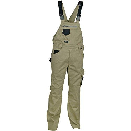 Cofra V000-0-00.Z46 Latzhose Pocket, Schlamm Grau / Schwarz, Größe 46
