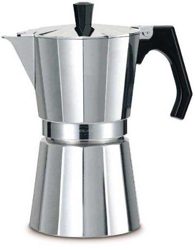 Oroley - Cafetera Italiana New Vitro de Aluminio, 12 Tazas
