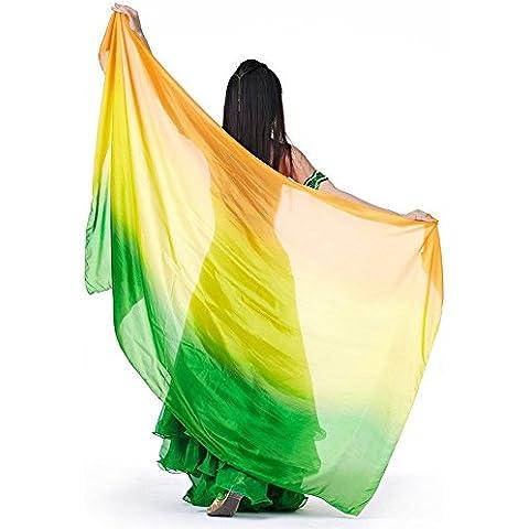 Turco Emporium para danza del vientre velo de seda de teñido de mano para Belly Dancers