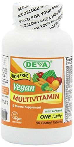 Deva, Multivitamine und Mineralien,vegan, 90 Tabletten