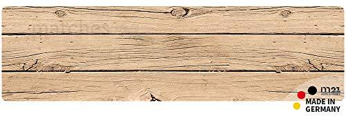 matches21 Küchenläufer Teppichläufer Teppich Läufer Holzbrett 50x180x0,4 cm Rutschfest maschinenwaschbar Küchenvorleger