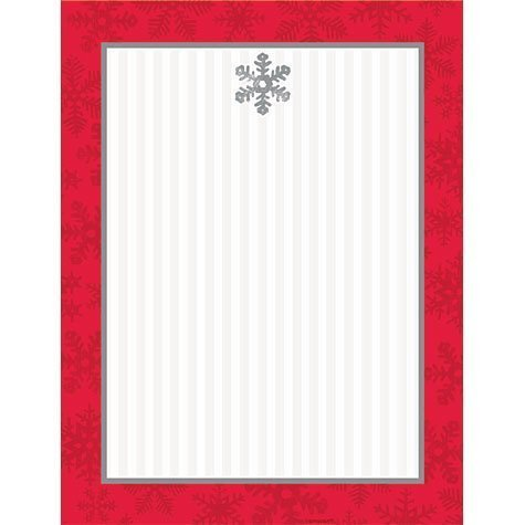 Sparkling Snowflake Imprintable Christmas Invitations 50ct by Party America