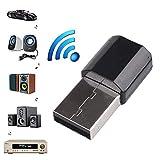 Wokee Bluetooth - 3.0 Adapter Wireless USB Bluetooth 3,5 mm AUX Audio Stereo Empfänger Adapter(kabelloser Datenaustausch Reichweite - schneller Transfer von Daten und Musik)