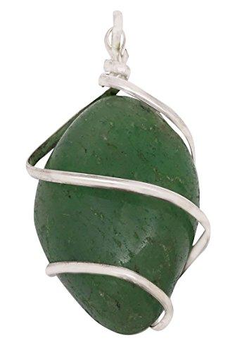 Harmonize Variscita Pierre envuelto alambre de joyería Piedras preciosas curativo de la piedra preciosa pendiente del Locket