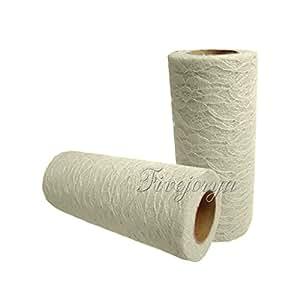 """Rouleau Bobine TULLE dentelle(15 cm x 9 m) 6 """" x10YD bricolage Tissu pour fêtes Tutu événement de mariage Favor Artisanat Décoration …"""