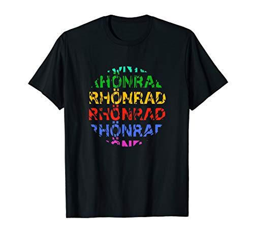 Rhönrad im Kreis I Buntes T-Shirt für Kinder Damen Herren