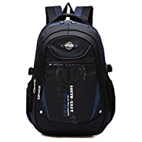 School Backpack for Boys, Waterproof Bookbags for Kids Student Children by Ellien (Dark Blue)