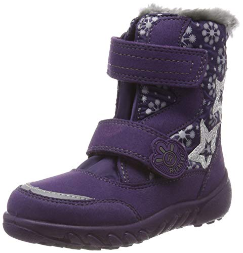 Richter Kinderschuhe Mädchen Husky Schneestiefel, Violett (BlackBerry/Ash 7501), 35 EU - Kind Stiefel Mädchen Schuhe