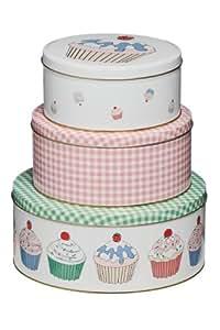 Premier Housewares Cupcake Storage Tins - Set of 3