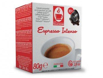 CAFISSIMO (Tchibo) INTENSO Kaffee - 10 Stück Kompatible Kaffeekapseln von Caffè Bonini Italien.
