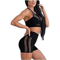 ZHMEI Pantalones de Yoga con Linterna   Mallas Ocasionales de Mujer empalmes de Cintura Alta Deportes Fitness Yoga Leggings Pantalones S - XL