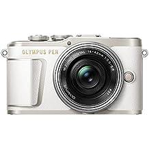 """Olympus PEN E-PL9 - Cámara de sistema compacto de 16 MP (pantalla de 3"""", zoom eléctrico, películas 4K, Wifi) blanco y plateado - kit con objetivo compacto M. Zuiko Digital ED de 14-42 mm"""