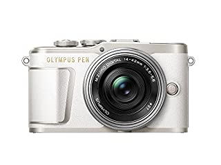 Olympus PEN E-PL9 16 MP Compact System Camera with Electric Zoom, 4K Movies, 3-Inch Display, Wi-Fi and 14 - 42 mm Pancake Lens - White/Silver (B079LMY4S3) | Amazon price tracker / tracking, Amazon price history charts, Amazon price watches, Amazon price drop alerts