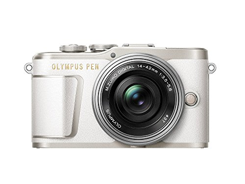 "Olympus PEN E-PL9 Kompakte Systemkamera (16 MP, elektr. Zoom, 4k, 3"" Display, Wifi) + 14-42mm Pancake weiß/silber"
