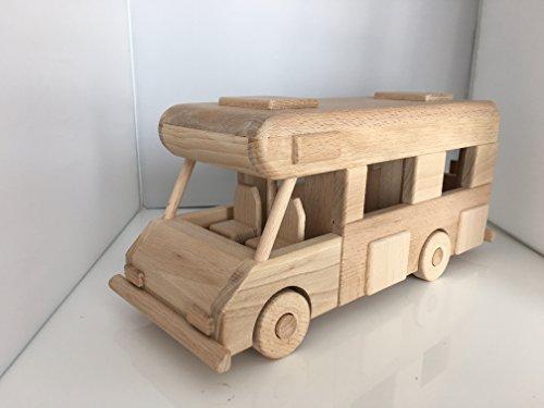 Superbe Grand Camping car en bois - jouet bois magnifique - Artisanat Véritable