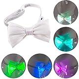 Mallalah La luz del LED para arriba la corbata de lazo recargable del resplandor USB para el accesorio del festival de las bolas del partido