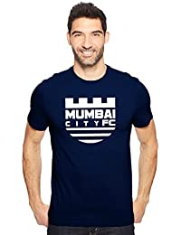 Mumbai City Football Club (MCFC) Fan Art Men's Cotton Round Neck Tshirt In Black, Navy Blue & Royal Blue