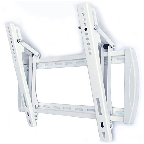 Design Support mural TV Support (Blanc) LED Plasma TFT LCD avec inclinaison et mécanisme à bascule pour téléviseur de 26 à 55 pouces (65–140 cm) avec de 200 x 200 mm VESA jusqu'à 400 x 400 mm