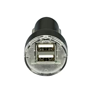 Two Port 2.1A USB Car Charger - Charge 2 USB devices at once, no more arguments over the car charger! Compatible with all Apple iPad iPhone and iPod models, all HTC and Samsung models including Samsung P1000 tablet